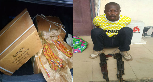 Photos: Police arrest militant who wanted to blow up 3rd Mainland Bridge