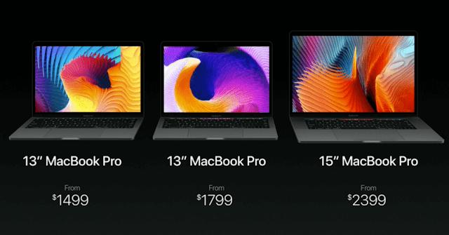 Price of new MacBook Pro