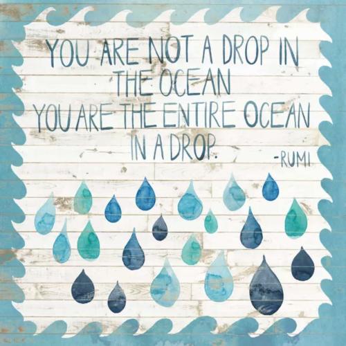Ocean Wisdom Quote Art