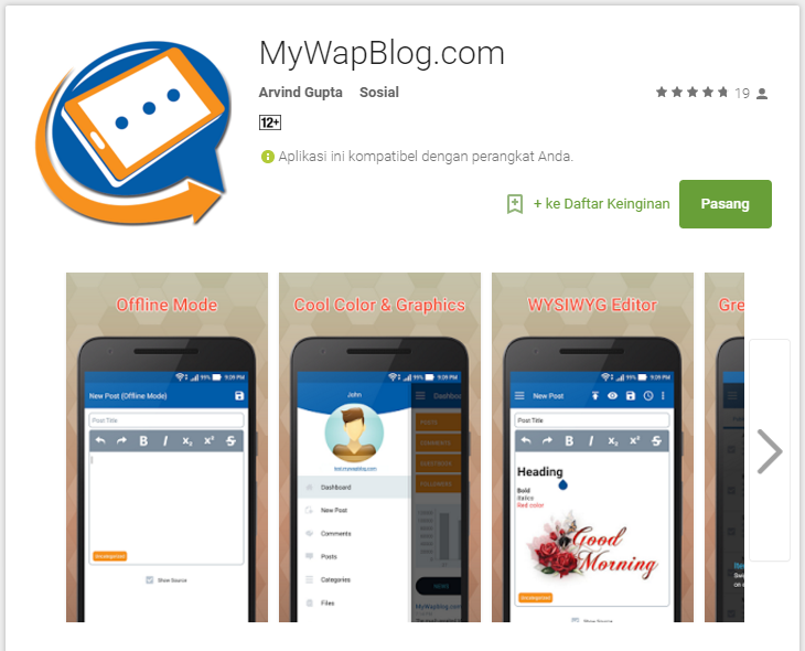Aplikasi Android Mywapblog