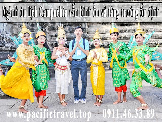 Ngành du lịch Campuchia vẫn bình ổn và tăng trưởng ổn định