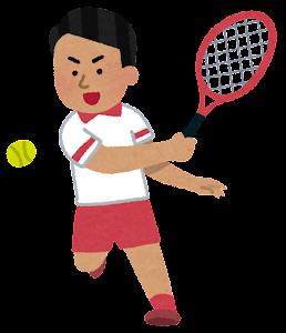 テニス選手のイラスト(東南アジア人男性)