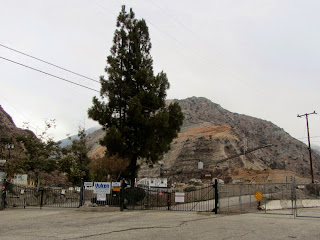 Entrance to Vulcan Materials' Azusa Rock quarry and Fish Canyon trailhead
