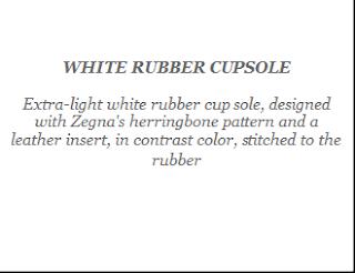 Ermenegildo Zegna : White Rubber Cupsole