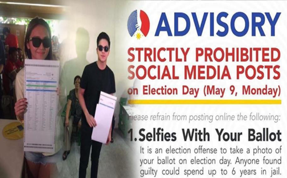 Daniel Padilla selfie election