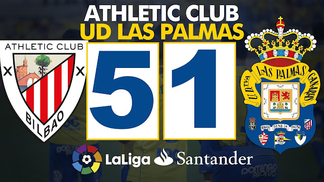 Marcado final: Athletic Club 5-1 UD Las Palmas