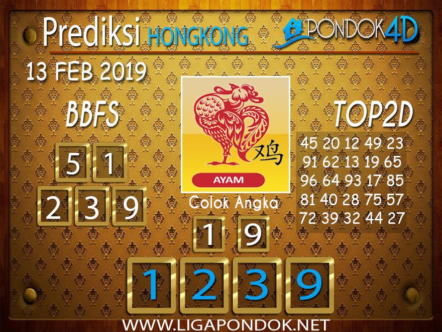 Prediksi Togel HONGKONG PONDOK4D 13 FEBRUARI 2019