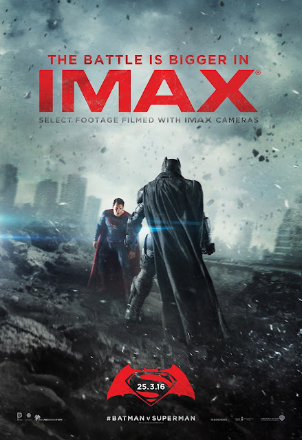 Batman v Superman Dawn of Justice Final IMAX Theatrical One Sheet Movie Poster
