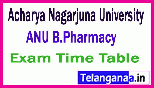 Acharya Nagarjuna University B.Pharmacy  Exam Time Table