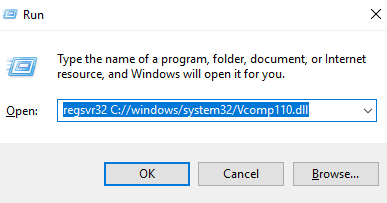 le fichier vcomp110.dll