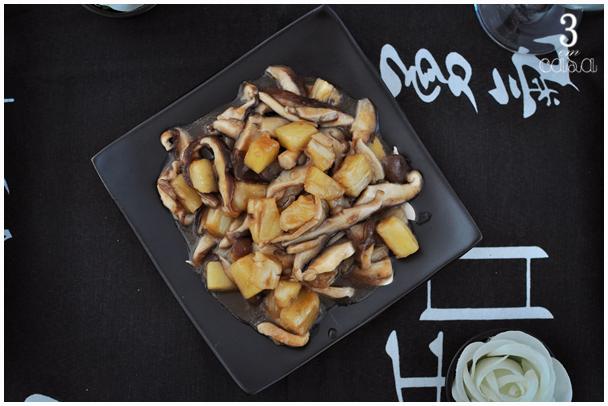 receita de shitake com abacaxi