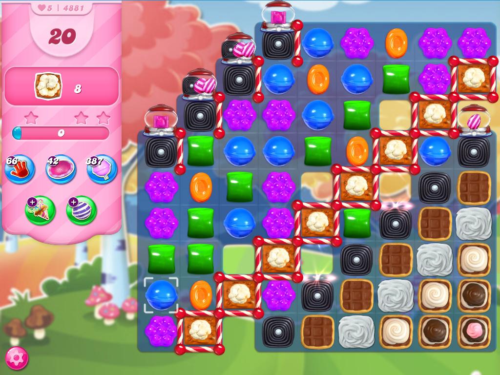 Candy Crush Saga level 4881