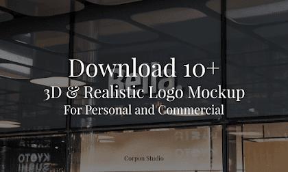 Download 10+ 3D & Realistic Logo Mockup PSD Gratis
