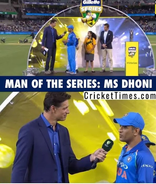 dhoni msd smartcric man of the series winner