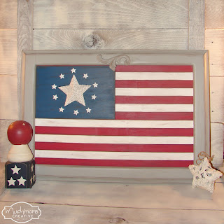 diy flag on cabinet door
