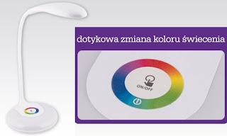 Lampka LED z podstawą zmieniającą kolory z Biedronki