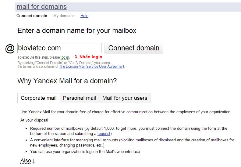 Hướng dẫn tạo Email với tên miền riêng Yandex | THINK NEXT