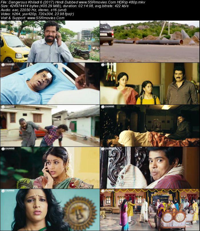 Ak Tha Khiladi Moovi Hindi: Dangerous Khiladi 6 (2017) Hindi Dubbed HDRip 480p 400MB
