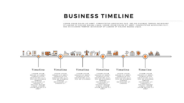 Free Horizontal Business Timeline PowerPoint Template Slide 2