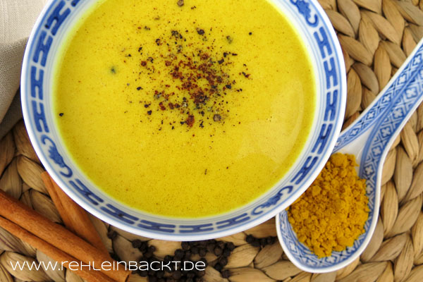Goldene Milch | Kurkuma Latte | Golden Milk | Foodblog rehlein backt