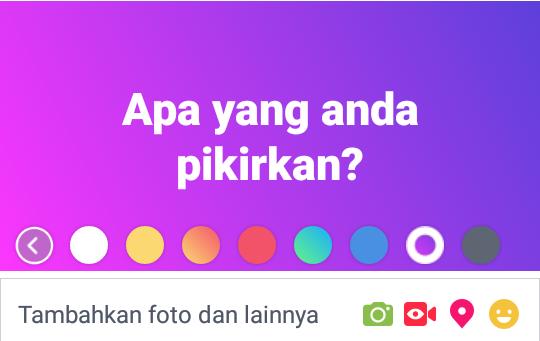 Ternyata Begini Cara Membuat Status Facebook Dengan Backgroud Warna Warni