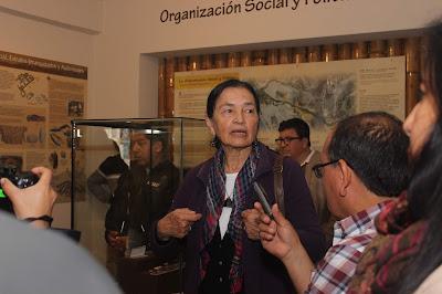 La Dra Ruth Shady en el museo de Végueta