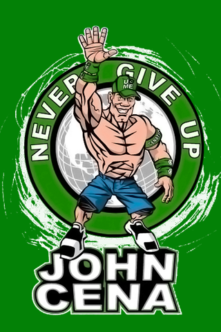 John Cena Never Give Up Red by MrGame6495 on DeviantArt  |John Cena Logo Never Give Up 2014