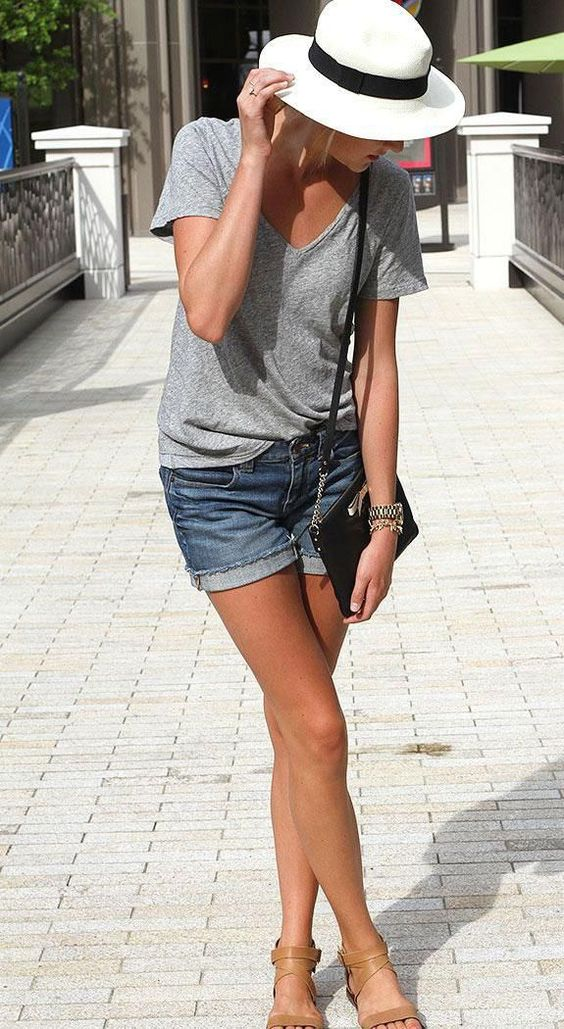 The Grown-Up Way to Wear Denim Shorts