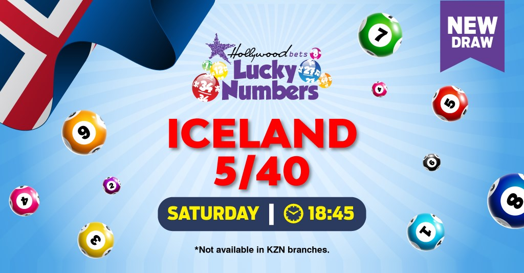 Iceland 5/40 - Lotto - Lucky Numbers - Hollywoodbets
