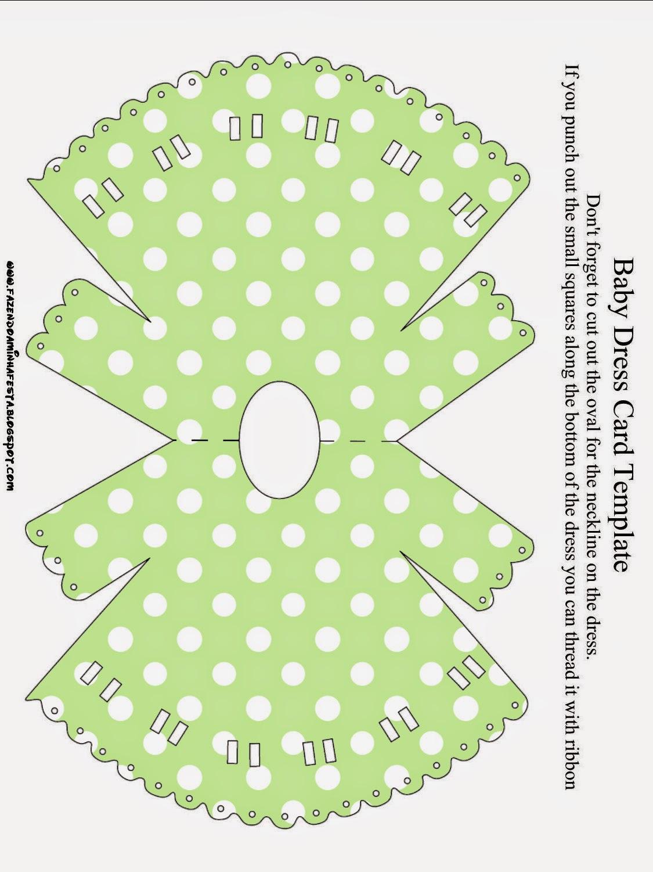 Invitación en forma de camisón de Verde y Celeste.