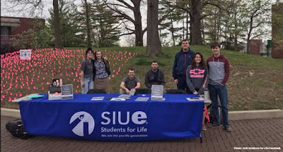 Vandals hit Students for Life display at Southern Illinois University-Edwardsville