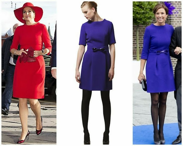 Queen Maxima's dress from Natan. We have seen the same dress Princess Marilene too