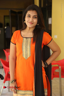 Telugu Actress Chandana Stills in Salwar Kameez at Karam Dosa Movie Press Meet  0047.JPG