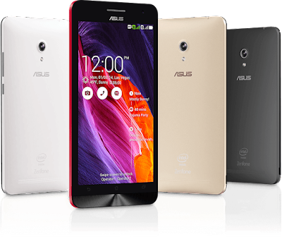 Asus Zenfone 6 A600CG Specifications - LAUNCH Announced 2014, January DISPLAY Type IPS capacitive touchscreen, 16M colors Size 6.0 inches (~70.5% screen-to-body ratio) Resolution 720 x 1280 pixels (~245 ppi pixel density) Multitouch Yes Protection Corning Gorilla Glass 3 BODY Dimensions 166.9 x 84.3 x 9.9 mm (6.57 x 3.32 x 0.39 in) Weight 196 g (6.91 oz) SIM Dual SIM (Micro-SIM, dual stand-by) PLATFORM OS Android OS, v4.3 (Jelly Bean), upgradable to v5.0.2 (Lollipop) CPU Dual-core 2.0 GHz Chipset Intel Atom Z2580 GPU PowerVR SGX544MP2 MEMORY Card slot microSD, up to 64 GB (dedicated slot) Internal 16/32 GB, 2 GB RAM CAMERA Primary 13 MP, f/2.0, autofocus, LED flash Secondary 2 MP Features Geo-tagging, touch focus, face detection, panorama Video 1080p@30fps NETWORK Technology GSM / HSPA 2G bands GSM 850 / 900 / 1800 / 1900 - SIM 1 & SIM 2 3G bands HSDPA 850 / 900 / 1900 / 2100 Speed HSPA 42.2/5.76 Mbps GPRS Yes EDGE Yes COMMS WLAN Wi-Fi 802.11 b/g/n, Wi-Fi Direct, hotspot GPS Yes, with A-GPS USB microUSB v2.0 Radio No Bluetooth v4.0, A2DP, EDR FEATURES Sensors Accelerometer, gyro, proximity, compass Messaging SMS(threaded view), MMS, Email, Push Email, IM Browser HTML Java No SOUND Alert types Vibration; MP3, WAV ringtones Loudspeaker Yes 3.5mm jack Yes BATTERY  Non-removable Li-Po 3300 mAh battery (12 Wh) Stand-by Up to 398 h (3G) Talk time Up to 28 h (3G) Music play  MISC Colors Charcoal Black, Pearl White, Cherry Red, Champagne Gold SAR US 1.18 W/kg (head) SAR EU 0.53 W/kg (head)  - MP3/WAV/eAAC+ player - MP4/H.264 player - Document viewer - Photo viewer/editor - Voice memo/dial