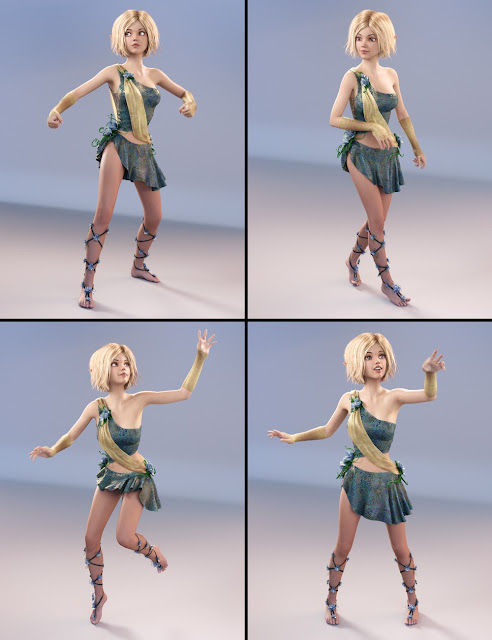 Striking Poses for Mika 7 and Genesis 3 Female