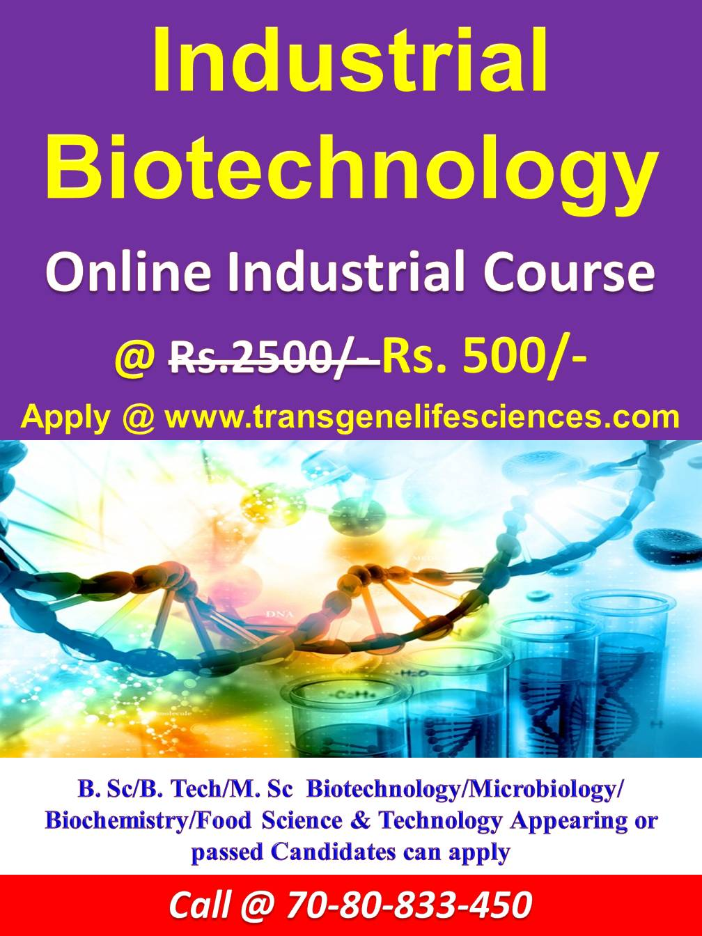 Industrial Biotechnology Online Certificate Course Rs500