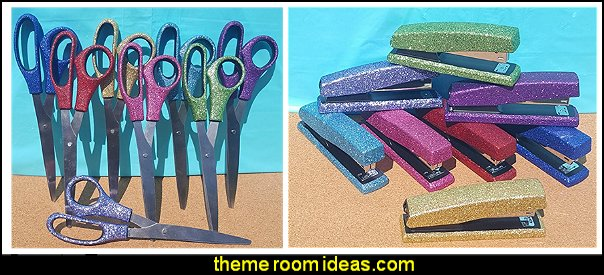 glitter office  supplies  office cubicle decorating ideas - cubicle decorating - work desk decorations - cubicle decoration themes - cubicle decor - office birthday party cubicle decorations - office birthday decorating kit - glitter office supplies