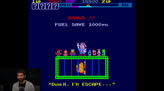 Arcade Archives Sky Skipper level complete swearing captured gorilla damn it I'll escape