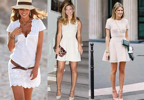 vestido blanco como combinar