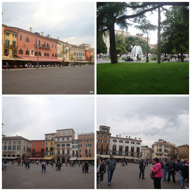 Um dia em Verona - Piazza Brà