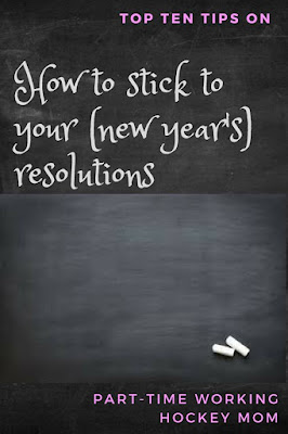 Blog With Friends, a multi-blogger project based post incorporating the theme Resolutions | How to Stick to your New Year's Resolutions by Tamara of Part-Time Working Hockey Mom | Featured on www.BakingInATornado.com