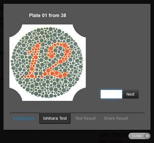 prueba de daltonismo Ishihara 38
