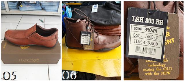 Aneka produk sepatu, gesper, Celana Jeans dan Dompet Kulit Asli Pria Branded Lois
