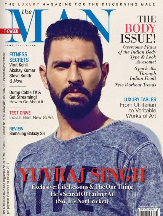 Yuvraj Singh On The Cover of THE MAN Magazine India June 2017