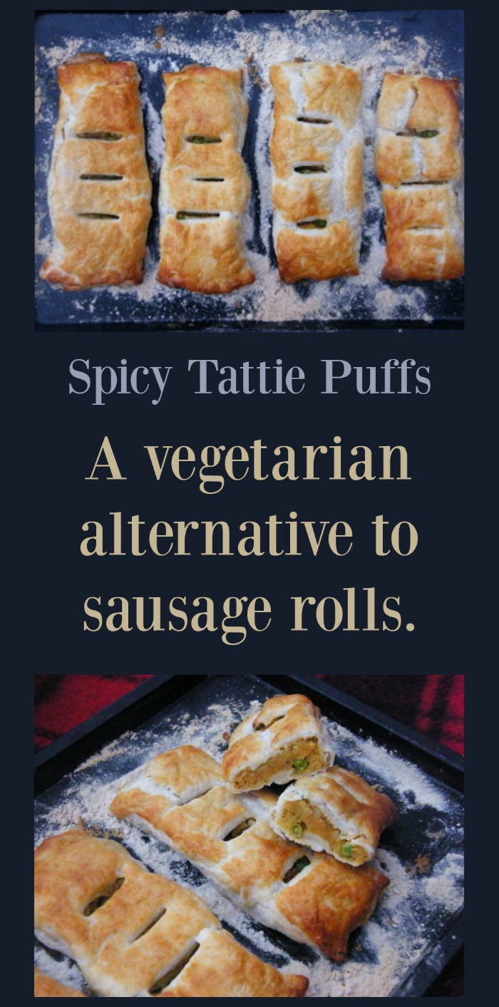 Spicy Tattie Puffs. A vegetarian alternative to sausage rolls. So, so good and easy to make.