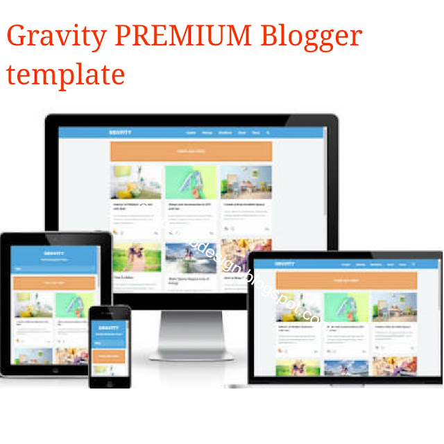 Gravity seo friendly premium blogger template