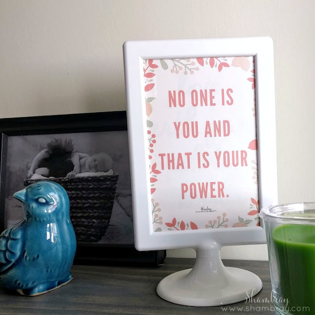 No one is you and that is your power
