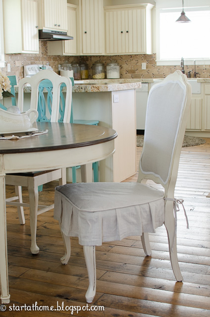 Charmant DIY Upholstered French Chair And A Pleated Skirt