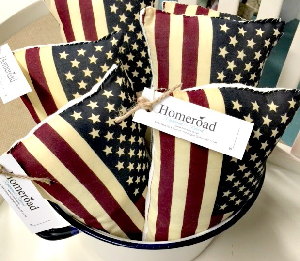 Flag Pillows  in a bucket