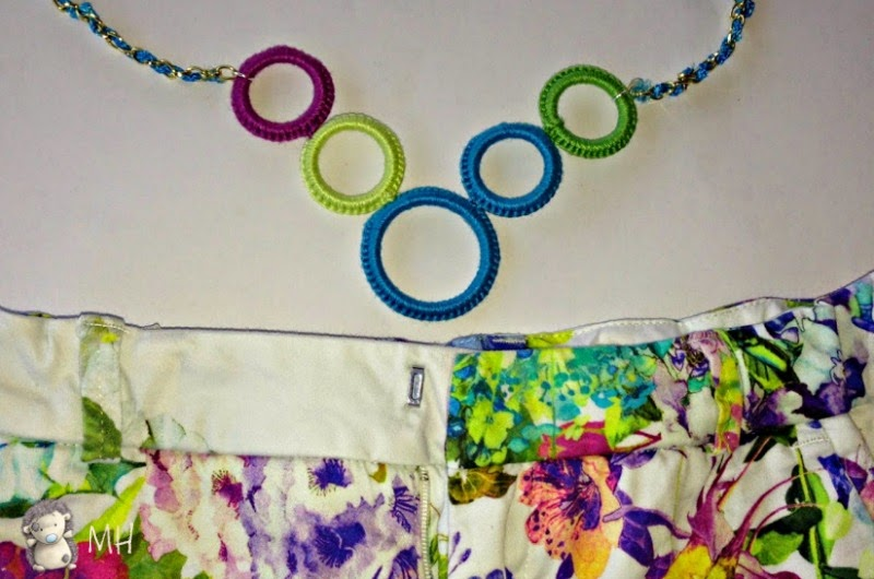 Collar de arandelas a crochet